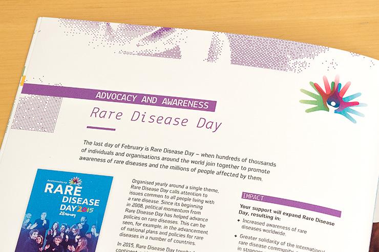 rare disease day mise en page affiche logo