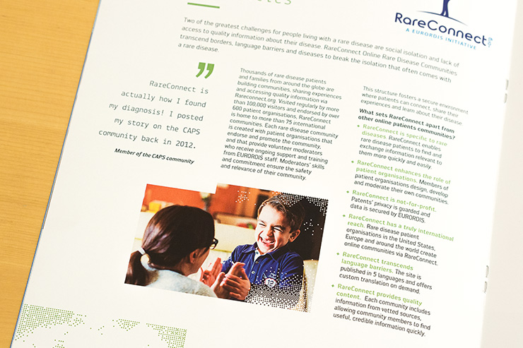 mise en page PAO brochure EURORDIS