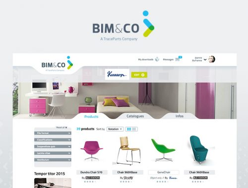 Site web internet BIM design logo