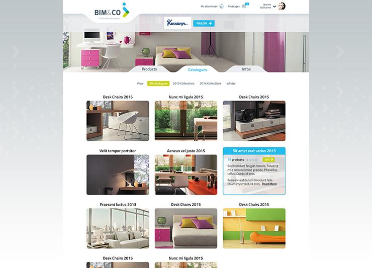 page web site internet BIM logo